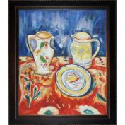 Tori Home Still Life with Breton Pottery Canvas Art