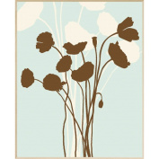 Floral Silhouette Wall Decor, Plaque