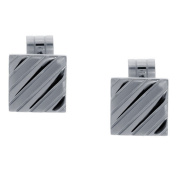 GOLDNROX Stainless Steel Cufflinks