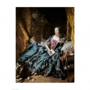 Madame de Pompadour, 1756 Poster Print by Francois Boucher