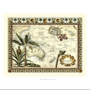 Tropical Map of East Indies Poster Print