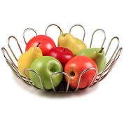 Spectrum Bloom Fruit Bowl, Satin Nickel