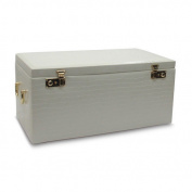Morelle Company Leather Jewellery Box With Jewellery Roll - LED Light