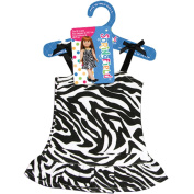 Fibre Craft Springfield Collection Zebra Dress for Doll, Black/White