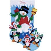 Penguin Party Stocking Felt Applique Kit-41cm Long