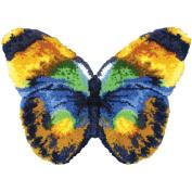 Latch Hook Kit 80cm x 60cm Shaped, Butterfly