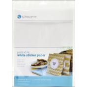Silhouette Of America Printable White Sticker Paper, 22cm x 28cm , 8/Pkg