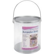 Darice Keepsake Totes Clear Paint Can, 18cm -  .  cm x 15cm - 1.6cm