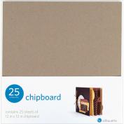 Silhouette Chipboard, 30cm x 30cm , 25/pkg