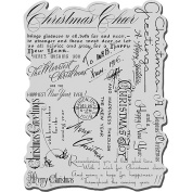 Stampendous Christmas Cling Rubber Stamp, Christmas Background
