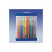 Club Pack of 45 Festive Hand Dipped Multi-Coloured Chanukah Menorah Candles 15cm