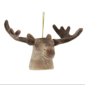 8.9cm Brown Moose Head with Large Antlers Christmas Ornament