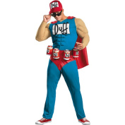 Simpsons Duffman Muscle Adult Halloween Costume
