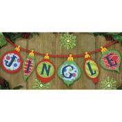 Dimensions Jingle Banner Felt Applique Kit, 90cm x 17cm
