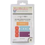 Spellbinders S4-397 Shapeabilities That's The Ticket Die Templates