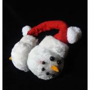 18cm Plush Snowmen Face Novelty Christmas Ear Muffs - One Size