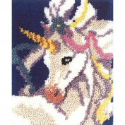 M.C.G. Textiles Sweet Unicorn Latch Hook Rug Kit