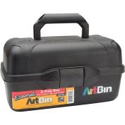 ArtBin Essentials Tray Tote 2, 34cm x22cm x19cm , Black