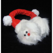 18cm Plush Santa Claus Face Novelty Christmas Ear Muffs - One Size