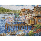 Tobin Dockside Quilts Counted Cross-Stitch Kit, 30cm x 41cm , 14 Count
