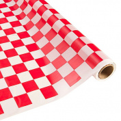Red and White Chequered Table Roll