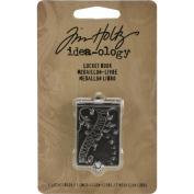 Locket Book by Tim Holtz Idea-ology, 5.1cm x 2.5cm , Antique Nickel Finish, TH93076
