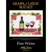 Latch Hook Kit 70cm x 50cm , Fine Wine
