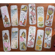 Bucilla Inspired By Nature Bookmarks Counted Cross Stitch Kit, 6.4cm x 20cm , 14 Count, Set Of 12