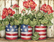 Lang Patriotic Flowers Boxed Note Cards