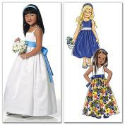 Butterick Patterns B5458 Children's/Girls' Dress, Sash and Headband, Size CL