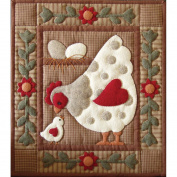 Spotty Hen Quilt Kit-33cm x 38cm