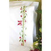 Dimensions Holly Border Pillowcase Pair Stamped Cross Stitch, 50cm x 80cm