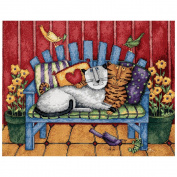 Dimensions Porch Cats Needlepoint Kit, 36cm x 28cm