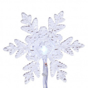 Vickerman 20 ct. Pure White LED Snowflake Lights 15cm . Spacing