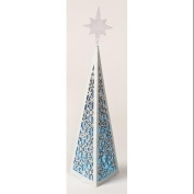 39cm Battery Operated Colour Changing Triangular Christmas Tree Facade with Snowflake Design