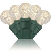 Wintergreen Lighting 20331 70 G12 Warm White LED Light String, Green Wire, 10cm Spacing