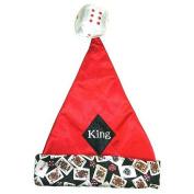 """38cm Casino Gambling """"King"""" Of Diamonds Santa Hat - Size Medium"""