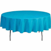 Round 300cm Polyester Tablecloth, Black