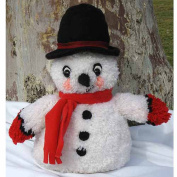 M.C.G. Textiles Huggables Snowman Stuffed Toy Latch-Hook Kit