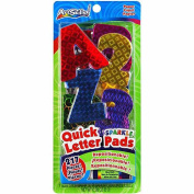 Artskills Quick Letter/Number Pads Repositionable With Glue Stick, Holographic Sparkle, 217pc