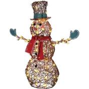 Starry Night Grapevine Snowman Christmas Lights