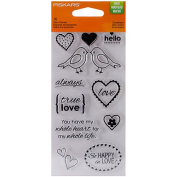 Fiskars 102820-1001 Clear Rubber Stamp, Sweetheart, 7.6cm by 15cm