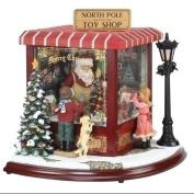 37cm Amusements LED Lighted Animated & Musical North Pole Christmas Toy Shop