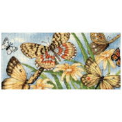 Dimensions Gold Collection Petite Butterfly Vignette Counted Cross Stitch, 20cm x 10cm