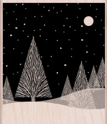 Hero Arts Mounted Rubber Stamps, Winter Moon