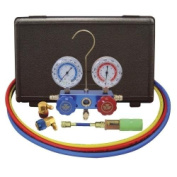Mastercool 89660-UV 134A Aluminium Manifold Gauge Set with 150cm Hoses and Standard Couplers