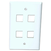 4XEM 4-Outlet RJ-45 Wall Plate/Faceplate, White