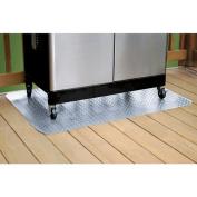 G-Floor Grill Mat, 120cm x 80cm , Diamond Tread, Metallic Silver