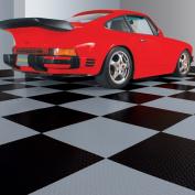 G-Floor RaceDay Peel and Stick Tile with PSA, Diamond Tread, 60cm x 60cm , Slate Grey, 10pc