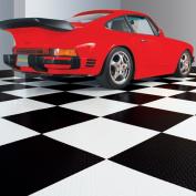 G-Floor RaceDay Peel and Stick Tile with PSA, Diamond Tread, 60cm x 60cm , Midnight Black, 10pc